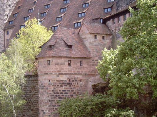 Rückseite der Kaiserburg Nürnberg