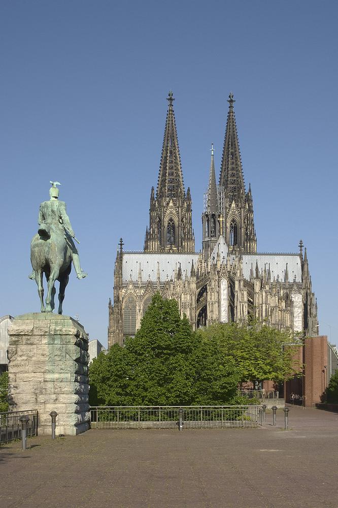 Rückseite des Kölner Doms