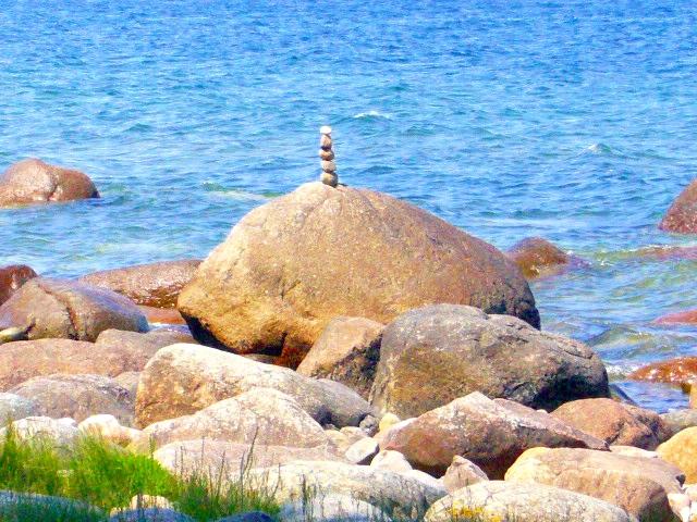 Rügen Stein und Meer