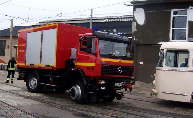 Rüstwagen Schiene der Dresdener Feuerwehr
