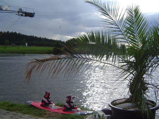 Ruhe an der Wasserskianlage Rossau