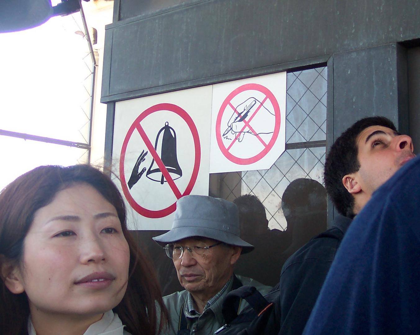 Ruhe im Touristengedrängel