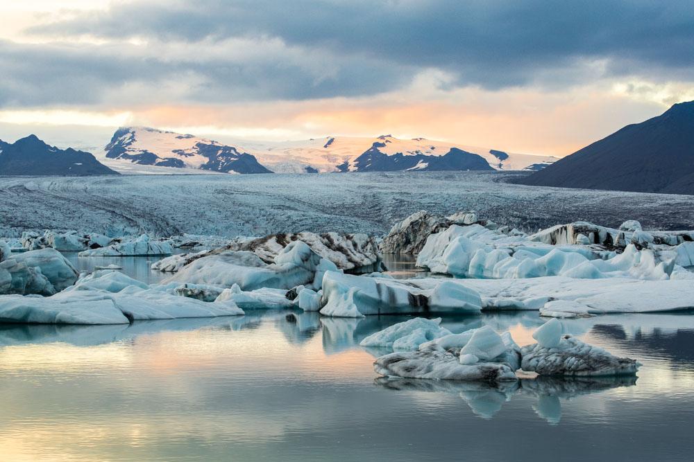 Ruhe pur in Islands Gletscherlagune des Vatnajökull