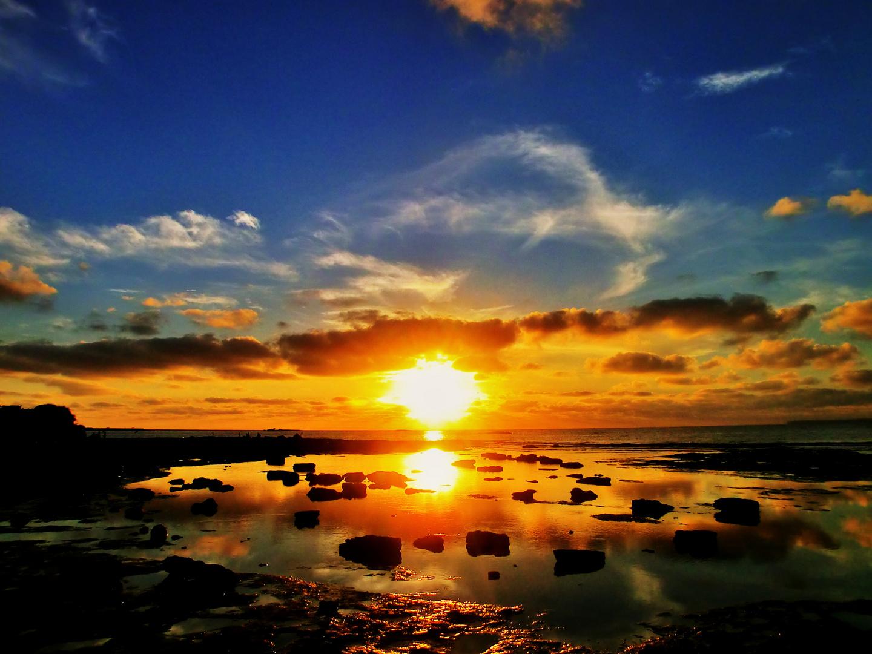 Ruhiges Abend-Meer