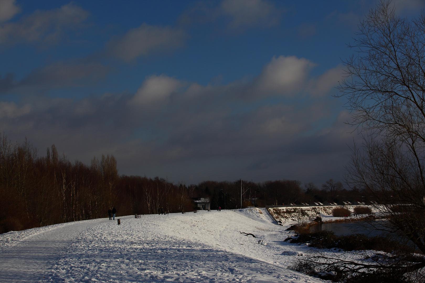 Ruhr in Alstaden im Winter 1