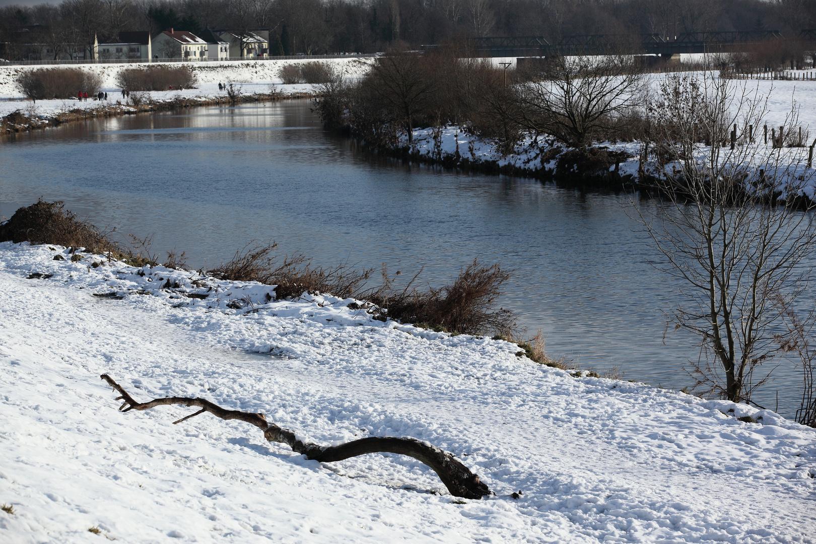 Ruhr in Alstaden im Winter 2