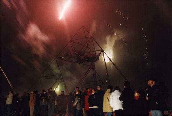 Ruhrgebiet bei Nacht -Sylvester-