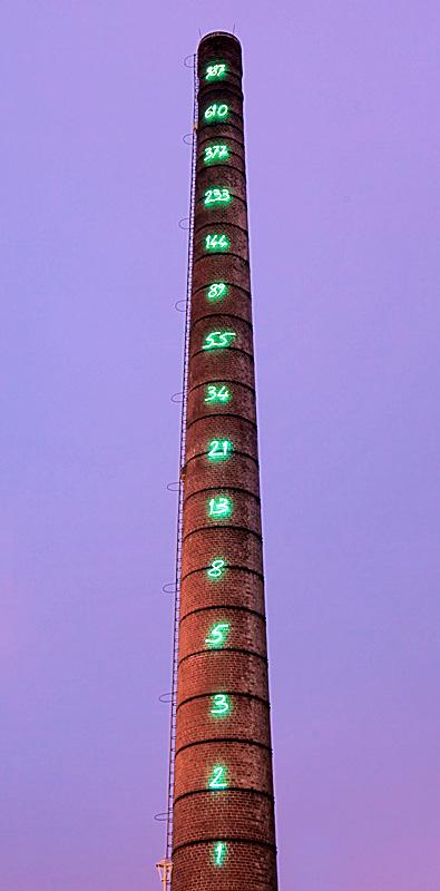 Ruhrgebiet - Route der Industriekultur - Fibonacci-Zahlen - Lichtinstallation