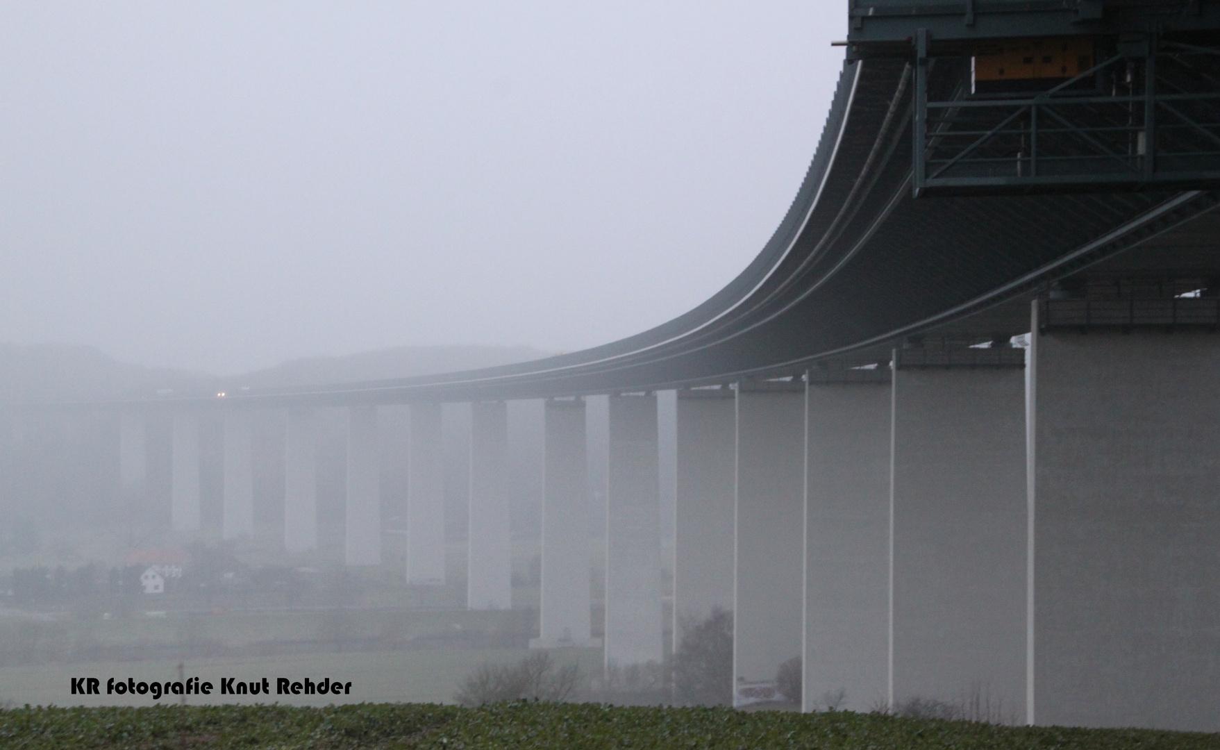 Ruhrtalbrücke Mülheim bei Nieselregen