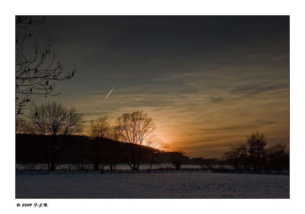 Ruhrwiesen im letzten Licht.