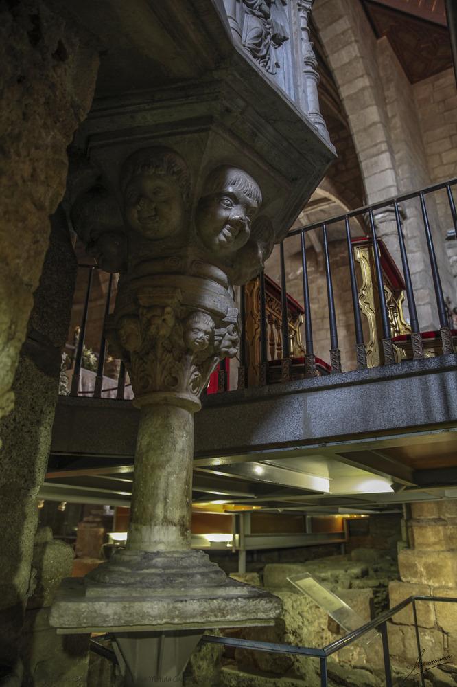Ruinas paleocristianas (Basílica de Santa Eulalia Mérida Cáceres Extremadura España)