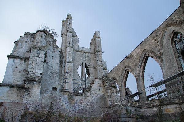 Ruine de l'église d'Ablain Saint Nazaire (pas de calais)