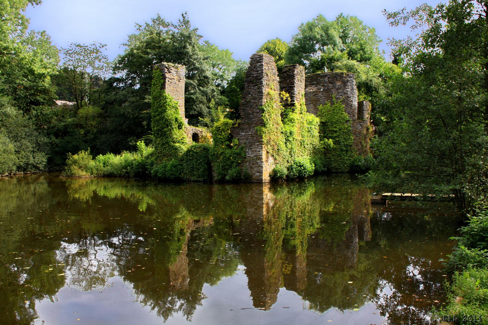 Ruine der Wasserburg Eibach
