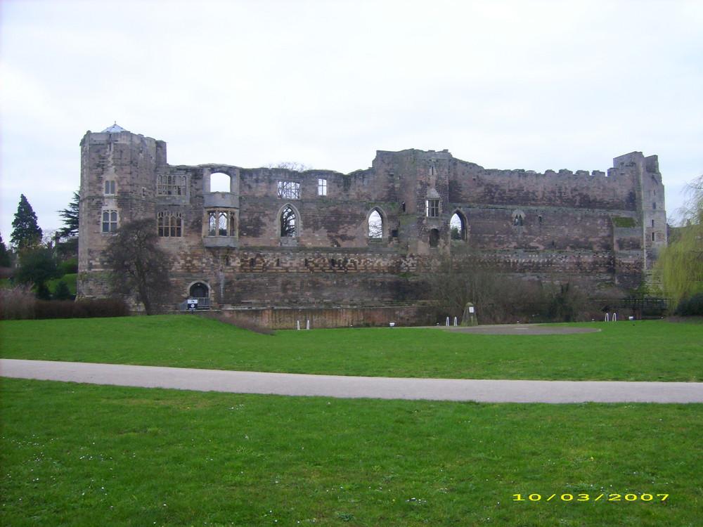 Ruine d'un château en Angleterre