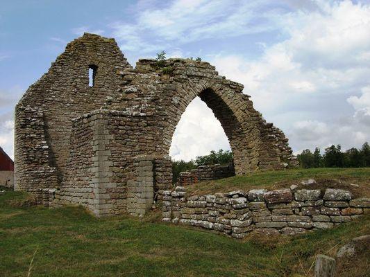 Ruine einer Kirche auf Öland (Schweden)