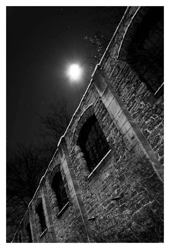 Ruine im Mondschein