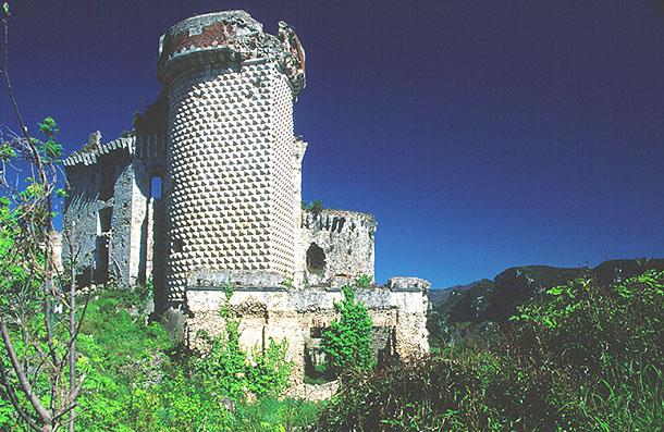 Ruine in Ligurien .