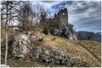 Ruine Niederhaus in Hürnheim im Landkreis Donau-Ries