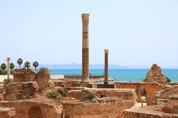 Ruinen der Antonius-Pius-Thermen