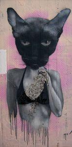 """RUINEN-Grafiti """"Cat-Woman"""""""