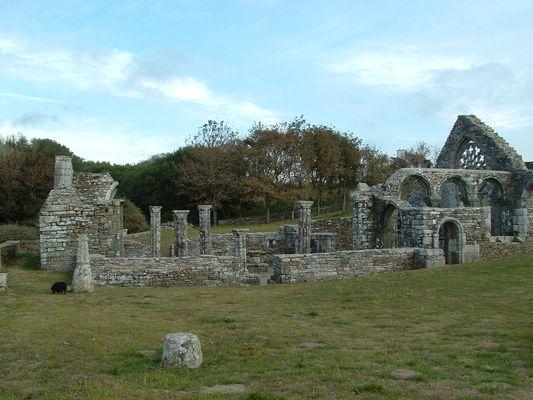 ruines de la chapelle de LANGUIDOU XII em siecle