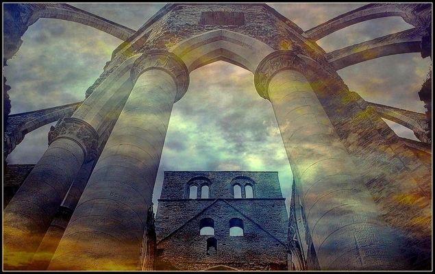 Ruines de l'abbaye d'Hambye