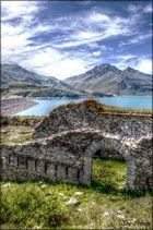 ruines près du lac du mont cenis