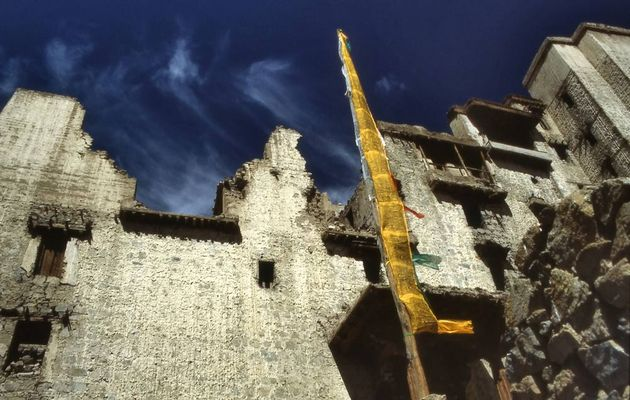 Ruins of the kings palace in Leh, Ladakh