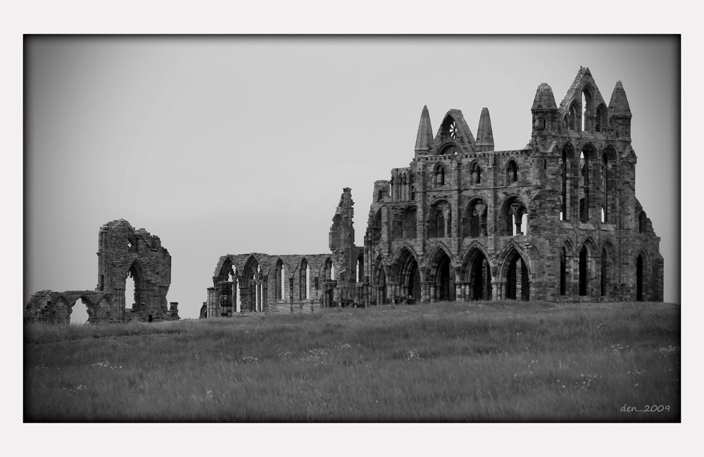 Ruins of Whitby Abbey.......