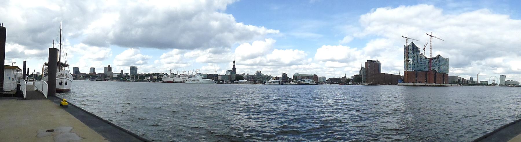 Rundblick auf Hamburg