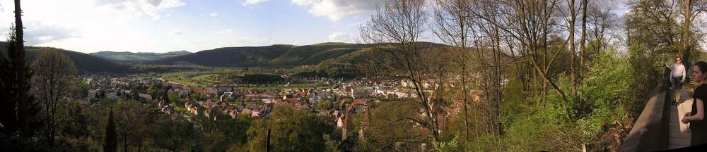 Rundblick von der Bergkirche in Schäßburg