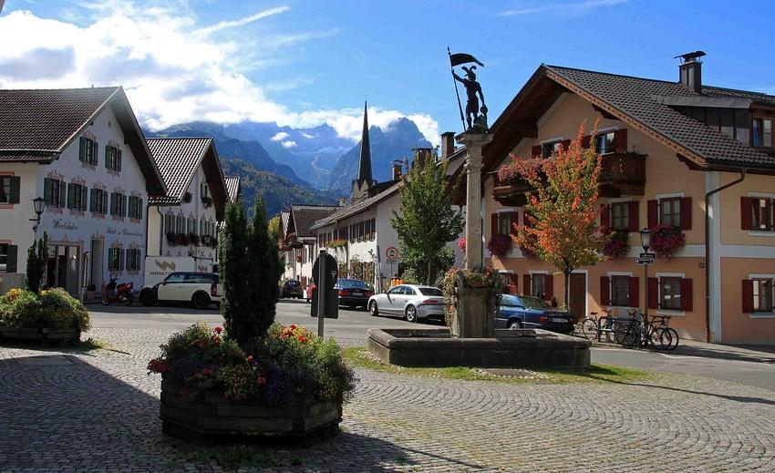 Rundgang durch Partenkirchen: Zugspitzblick