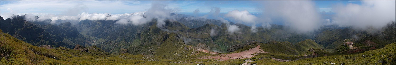 Rundumblick vom Pico Ruivo