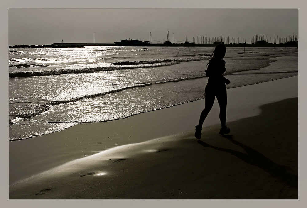 ...running away...