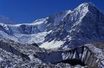 Rupal-Tal mit Gletscher