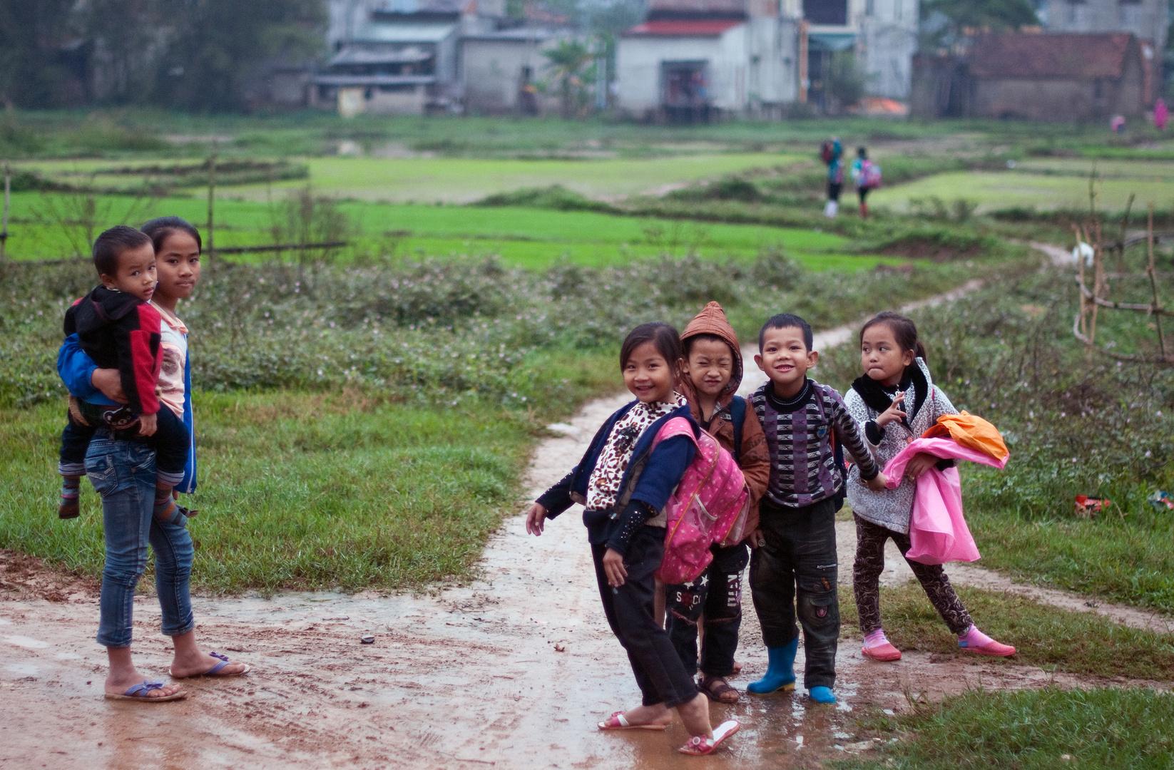 Rural school kids