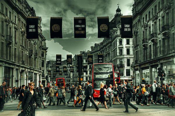 Rush hour auf der Oxford Street