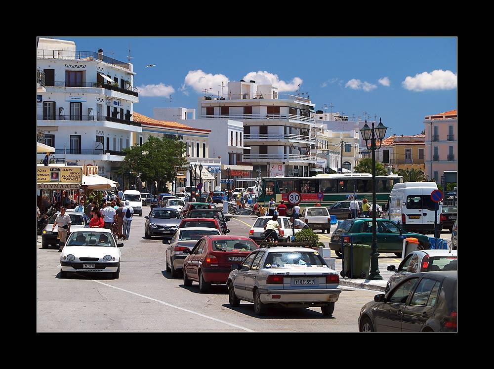 Rush Hour auf Tinos