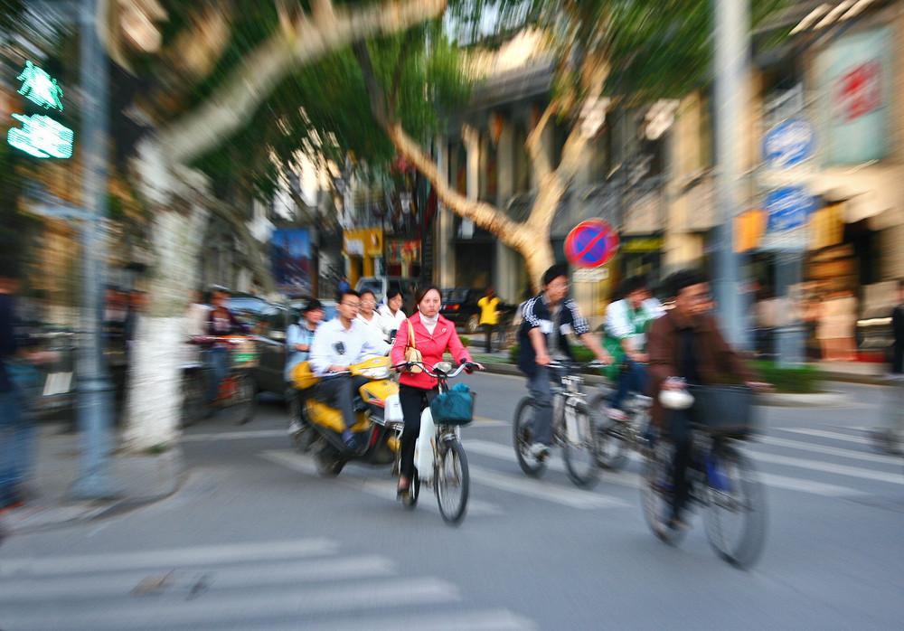 Rush hour in China