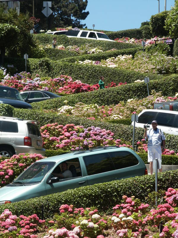 rush hours at lombard street