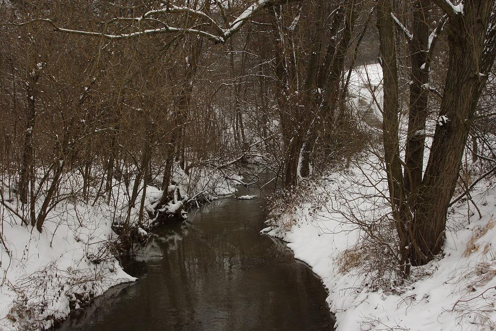 Rußbach im Schneemantel