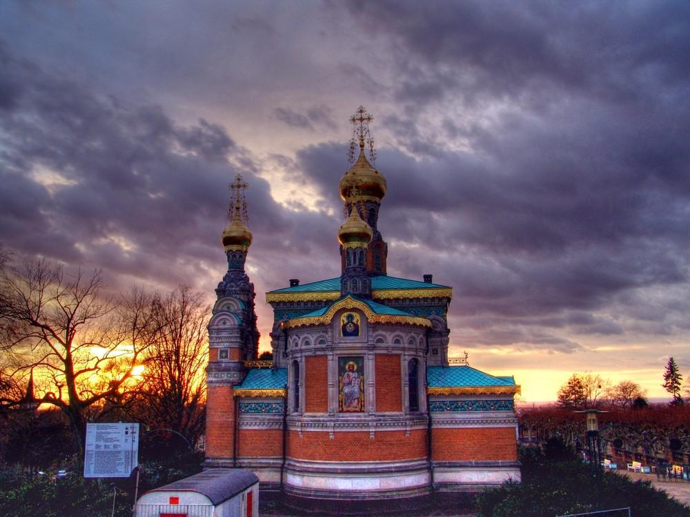 Russische Kapelle auf der mathildenhöhe Darmstadt