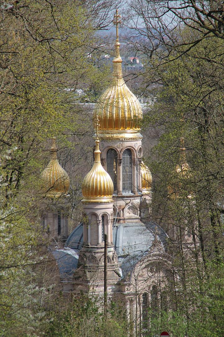 Russische Orthodoxe Kirche auf dem Neroberg in Wiesbaden (2)