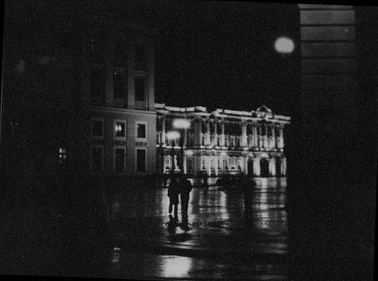 rußland, oktober, nacht