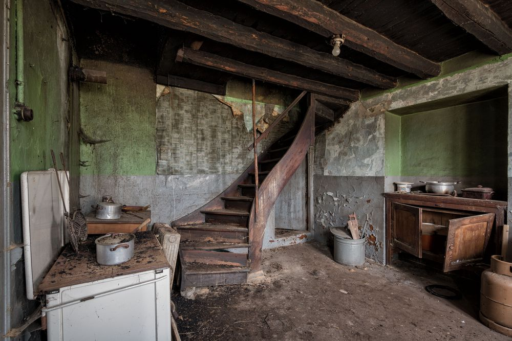 rustikale Küche...