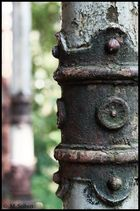 Rusty column.