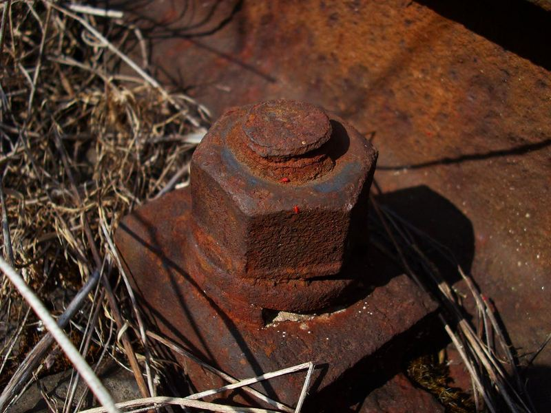 rusty screw nut