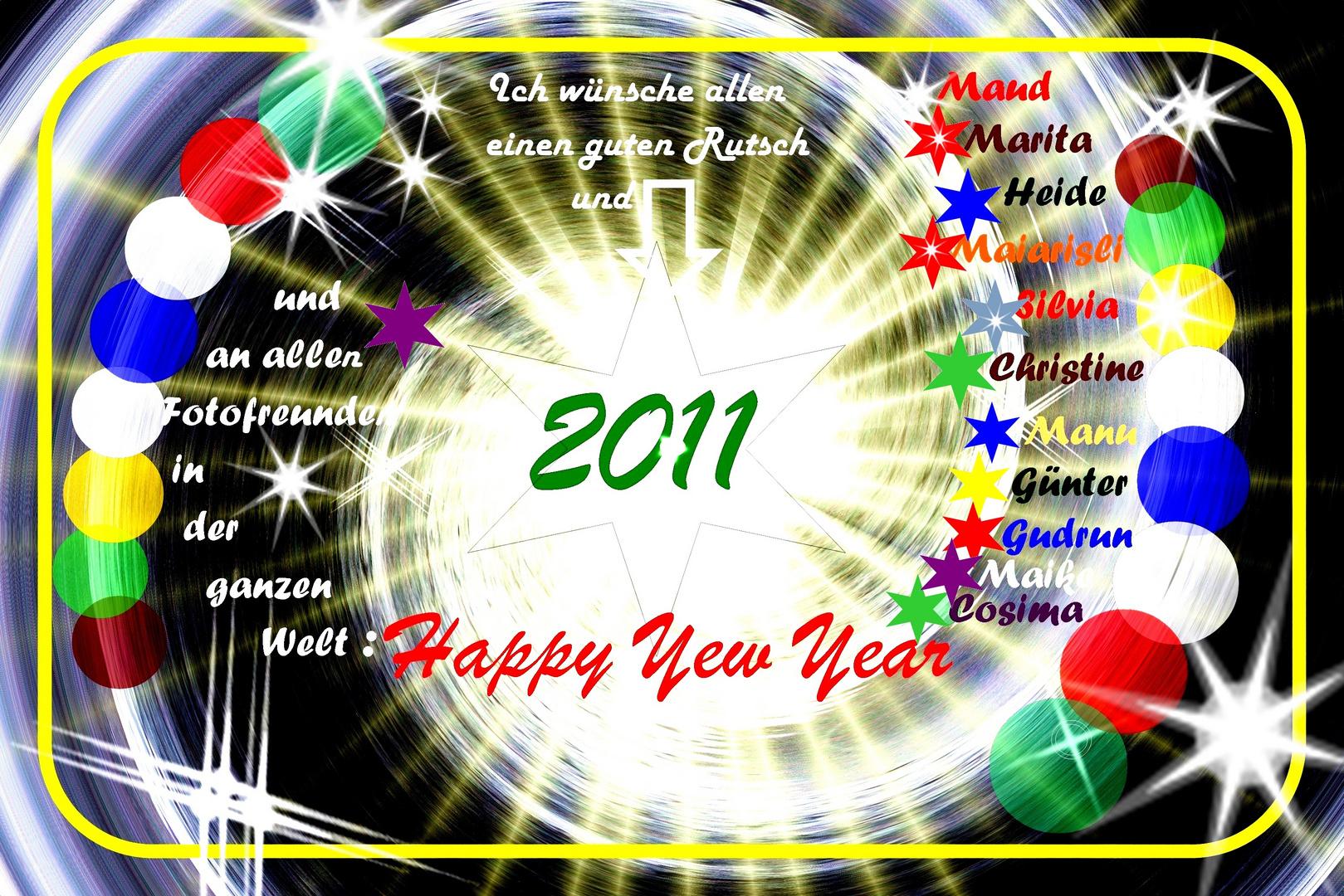 Rutscht am 31. 12. gut ins Neue Jahr !!!