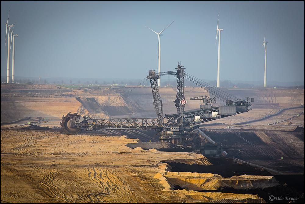 RWE Schaufelbagger in Jackerath