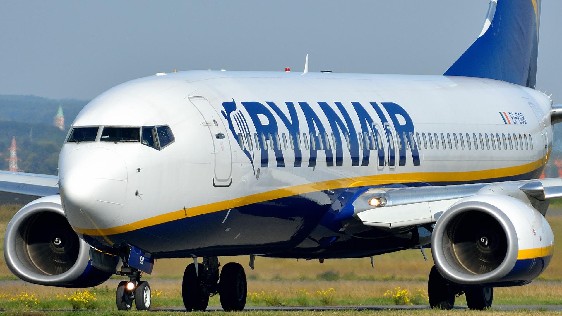 Ryanair nach der Landung